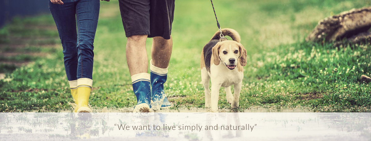 We want to live simply and naturally